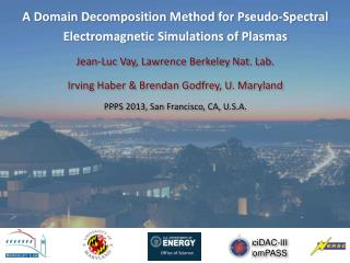 A Domain Decomposition Method for Pseudo-Spectral Electromagnetic Simulations of Plasmas