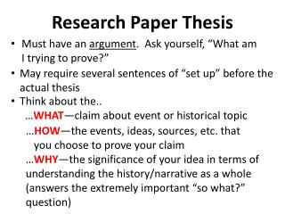 Research Paper Thesis