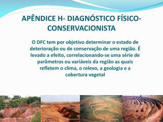 APÊNDICE H- DIAGNÓSTICO FÍSICO-CONSERVACIONISTA