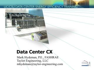 Data Center Cx Overview