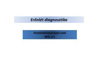 Erőnlét diagnosztika