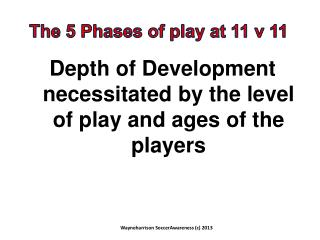Depth of Development necessitated by the level of play and ages of the players