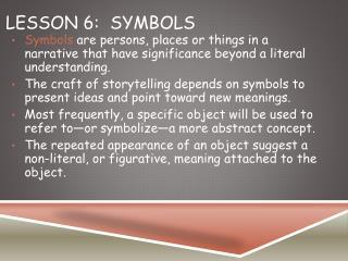 Lesson 6:Symbols