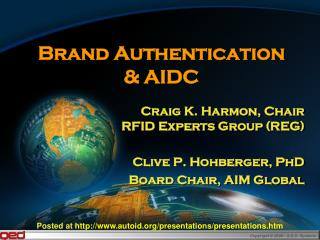 Brand Authentication  & AIDC