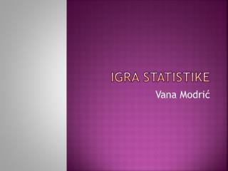 Igra statistike