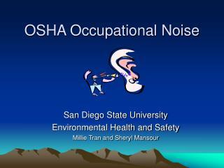 OSHA Occupational Noise
