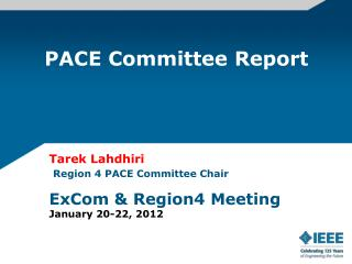 PACE Committee Report