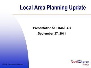 Local Area Planning Update