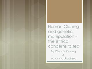 Human Cloning and genetic manipulation - the ethical concerns raised