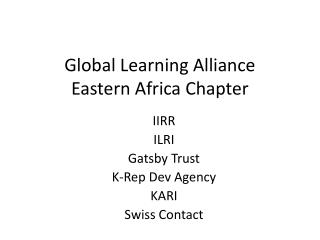 Global Learning Alliance Eastern Africa Chapter