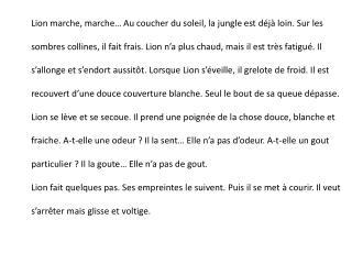 grammaire picot texte5 lion transpo present vous