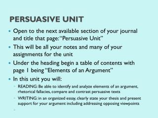 Persuasive Unit