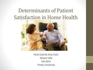 Determinants of Patient Satisfaction in Home Health