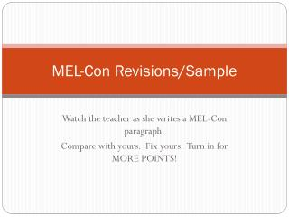 MEL-Con Revisions/Sample
