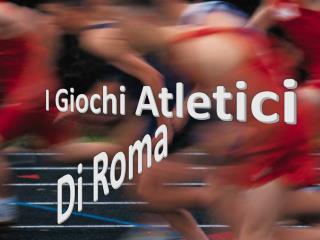 I Giochi Atletici