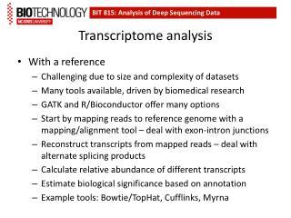Transcriptome  analysis