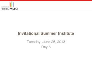 Invitational Summer Institute