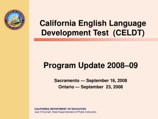California English Language Development Test  CELDT