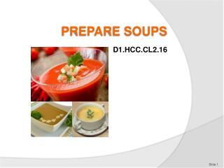 PREPARE SOUPS