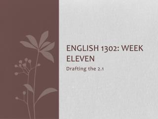 English 1302: Week Eleven