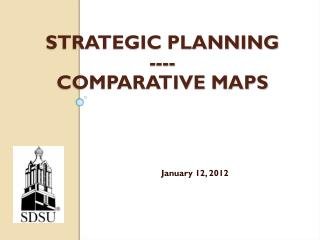 Strategic  Planning ---- Comparative maps