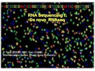 P. Tang ( ??? ) ;  RRC.  Gan  ( ??? ) Bioinformatics  Center, Chang Gung University .