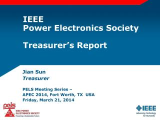IEEE Power Electronics Society Treasurer's Report