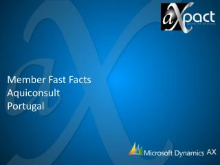 Member Fast Facts Aquiconsult Portugal