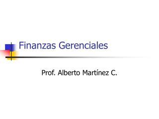 Finanzas Gerenciales