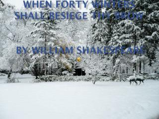 When forty winters shall besiege thy brow  by William Shakespeare