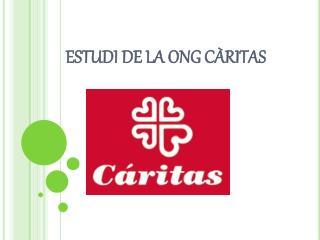 ESTUDI DE LA ONG CÀRITAS