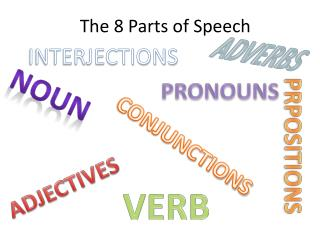 The 8 Parts of Speech