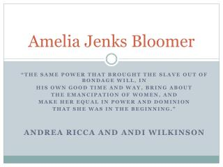 Amelia Jenks Bloomer
