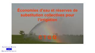 Économies d'eau et réserves de substitution collectives pour l'irrigation C T G Q