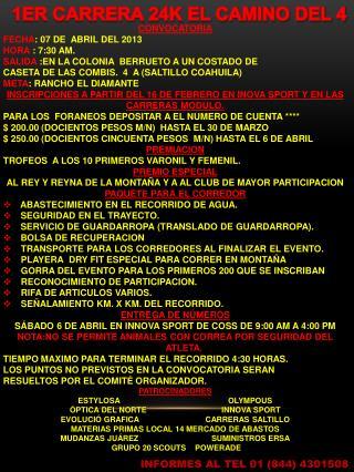 1ER CARRERA 24K EL CAMINO DEL 4