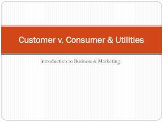 Customer  v. Consumer & Utilities