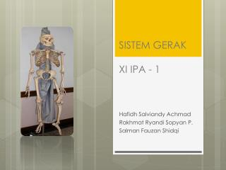 SISTEM GERAK XI IPA - 1