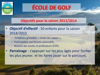 Objectif d'effectif  :  50 enfants pour la saison 2014/2015