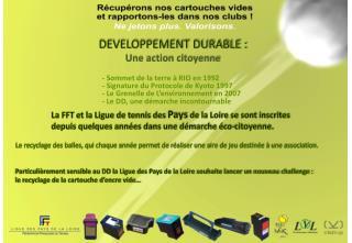 La FFT et la Ligue de tennis des  Pays  de la Loire se sont inscrites