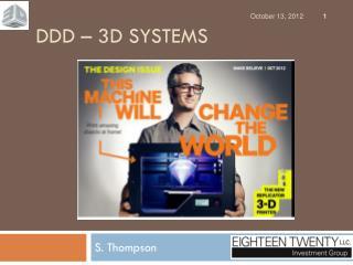 DDD � 3D SYSTEMS
