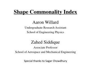 Shape Commonality Index