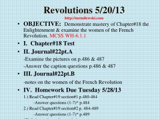 Revolutions  5/20/13 http://mrmilewski.com