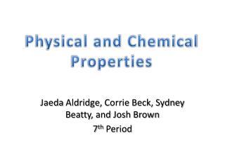 Jaeda  Aldridge,  Corrie  Beck, Sydney  Beatty, and Josh Brown 7 th  Period