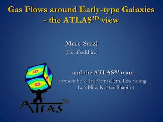 Gas Flows around  Early-type  Galaxies  - the  ATLAS 3D  view