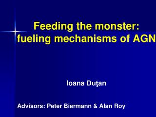 Feeding the monster: fueling mechanisms of AGN