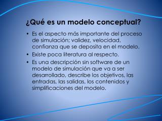 ¿Qué es un modelo conceptual?