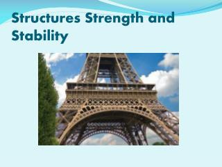 Structures Strength and Stability