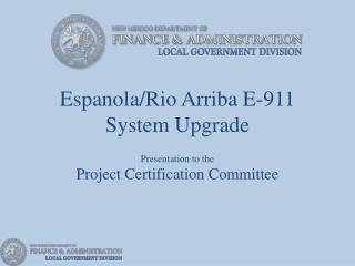 Espanola/Rio Arriba E-911 System Upgrade