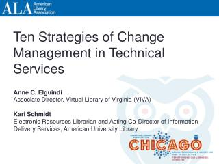 Ten Strategies of Change Management in Technical Services