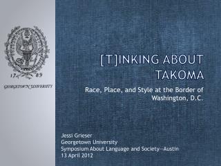 [t]inking about  takoma